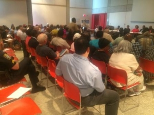 Residents and stakeholders at a Roxbury Strategic Master Plan meeting
